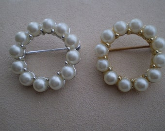 Reduced Price-Vintage Faux Pearl Broach