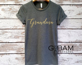 Glitter GRANDMA SHIRT /Grandma tee/ You're a grandma / Grandma gift / future grandma / we're Pregnant