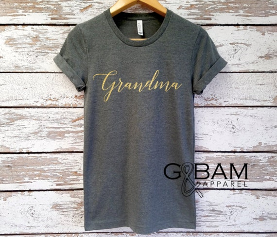 Glitter GRANDMA SHIRT /Grandma tee/ You're a grandma / Grandma gift / future grandma / we're Pregnant