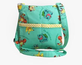 Pokemon Crossbody Bag // Sling Bag // Crossbody Purse // Shoulder Bag // Hipster