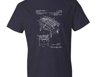 Foosball Table Patent T-Shirt - Patent t-shirt, Old Patent T-shirt, Foosball T-shirt, Soccer Table, Foosball Patent, Foosball Shirt