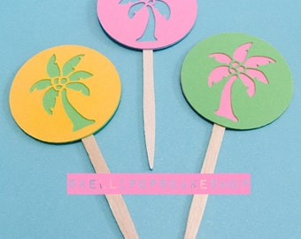 Palm Tree Cupcake Toppers