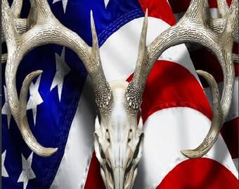 American Deer Tallgrass Camo Cornhole Wrap Bag Toss Decal Baggo Skin Sticker Wraps