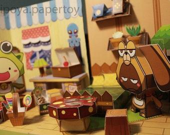 JiPo's Bedroom Papertoy/papercraft