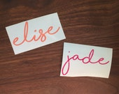 Handwritten Name Decal | Personalized Name Decal | Cursive Name Decal | YETI Decal | Vinyl Decal | Glitter Name Decal | Laptop Decal