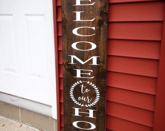 Welcome front porch sign, wood welcome sign, front porch sign, welcome porch sign, welcome to our home, welcome, wood sign