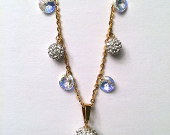 Gold Pave Crystal Necklace