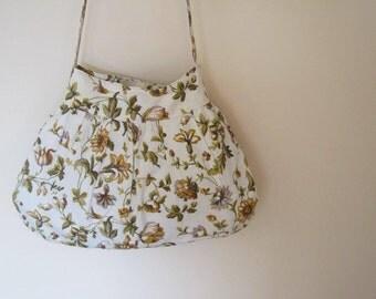 Long-strap Floral Shoulder Bag