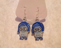 Sadness Inside Out, Cartoon Character, Inside Out Earrings
