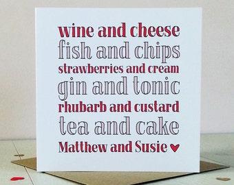 Perfect Match Valentine Wedding Anniversary Card