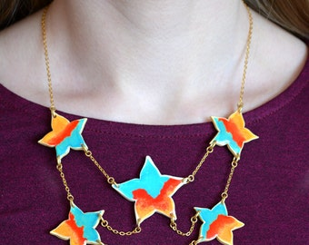 Choker Orange star Silhouette
