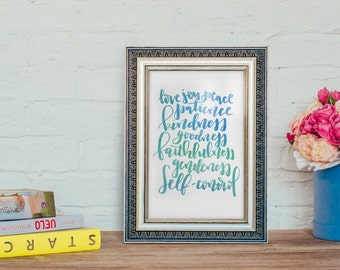 Fruit of the Spirit Poster - Instant Download Printable - Galations 5:22-23