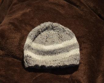 Handmade Striped Baby Hat, Knit Hat