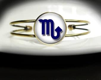 Scorpio Bracelet October Birthday Bracelet - Scorpio Jewelry Bracelet - October November Bracelet Scorpio Birthday Bangle Bracelet Jewelry