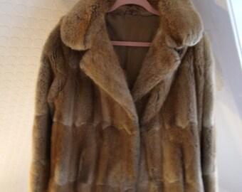 Fox fur coat beige - Vintage