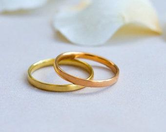 simple wedding bandminimalist wedding bandsimple gold wedding band18k gold wedding