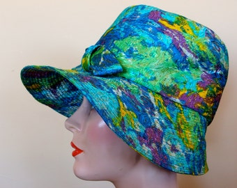 1960s MOD hat Brimmed hat Psychedelic Colors