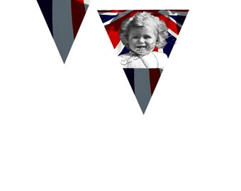 Queen Elizabeth ll Through The Ages Bunting