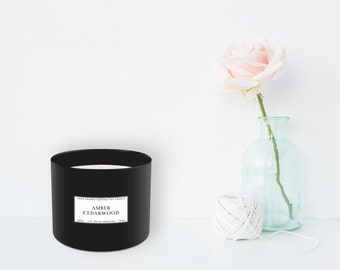 Amber + Cedarwood Candle (385 g)