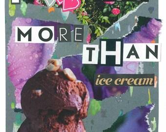 I love you more than icecream