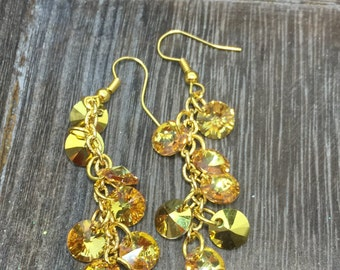 Bursts of Sunshine Swarovski Crystal Earrings
