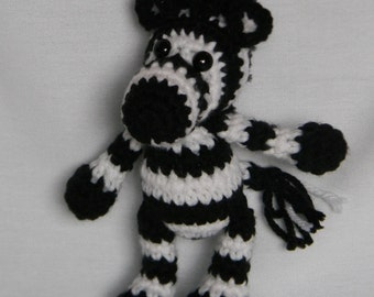 Zeke the Zebra - crochet amigurumi stuffed toy