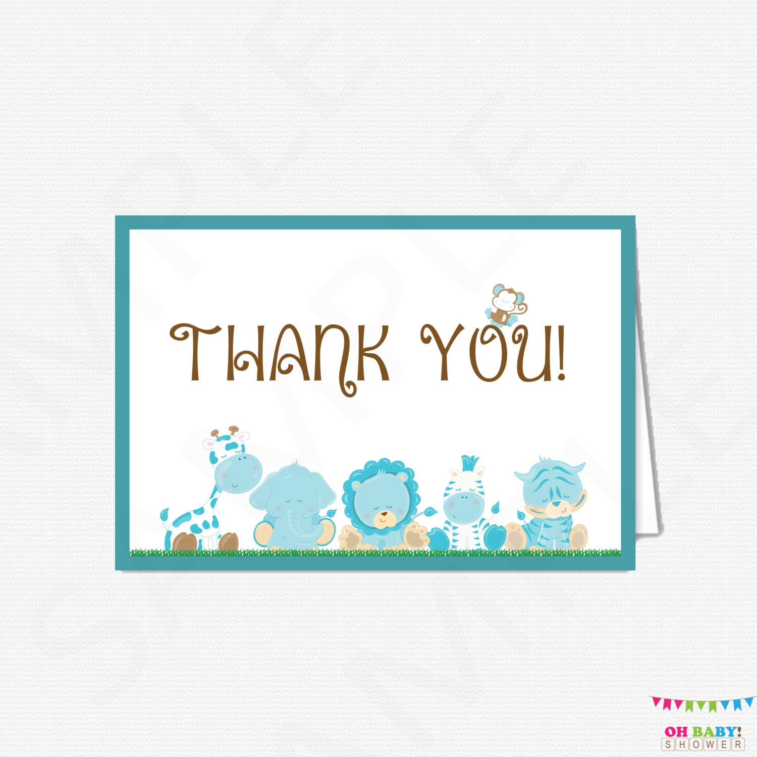 It is a graphic of Comprehensive Printable Baby Shower Thank You Cards