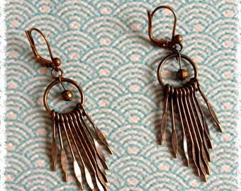 """Earrings """"Paola"""" brass aged"""
