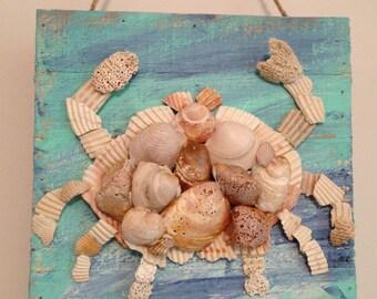 Shell Crab/Rustic/Beachy/Fun