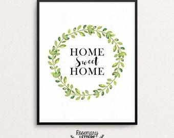 Home Sweet Home Wall Art home sweet home entrance wall art home sweet home poster