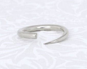 Unique silver ring, open ring, minimalist ring, modern ring, silver ring, unique ring, silver band, handmade ring, adjustable ring, gift