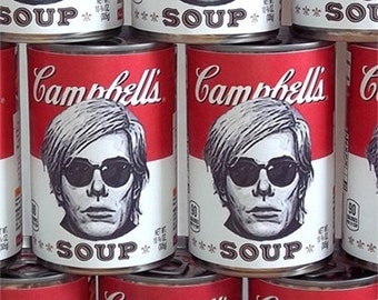 Homage to Andy Warhol Soup Can - Custom Warhol Gift