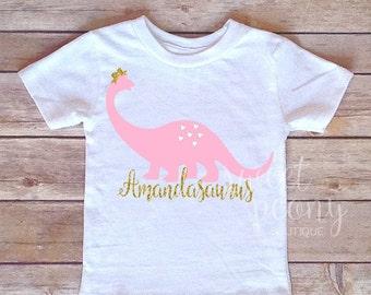 Girls dino shirt etsy for Girly dinosaur fabric