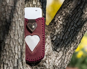 cover - phone leather cover - phone pouch