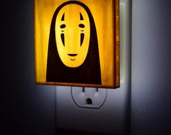 No Face Spirited Away Miyazaki Hayao studio ghibli - Lantern Night Light for bedroom, nursery, bathroom