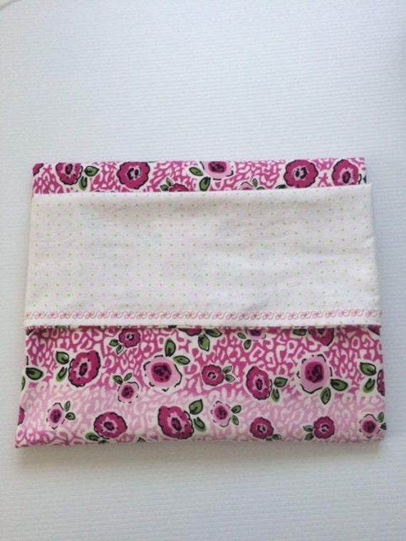100 Cotton Flannel Baby Blanket Pink Floral