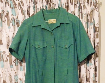 Vintage green buttoned dress