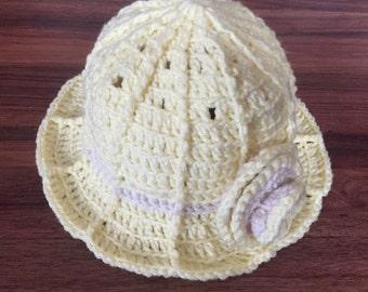 little girl's crochet hat