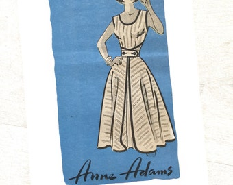 50s Wrap Tie Dress, Size 14, Bust 34, Anne Adams Mail Order 4839, Misses 1950s Vintage Sewing Pattern