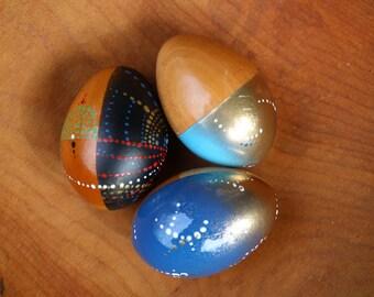 Cosmic Wooden Egg Shakers