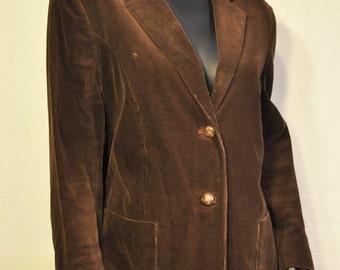 Womens Vintage Corduroy Blazer