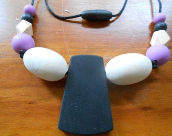 Silicone & Wood teething necklace