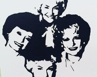 The Golden Girls Vinyl Sticker