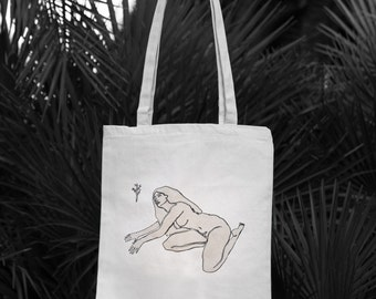 Tote Bag, Canvas Tote Bag, Woman Art, Printed Bag, Printed Tote Bag, Canvas Bag, Handmade Tote Bag, Cotton Tote Bag