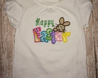 Custom appliqued Happy Easter shirt