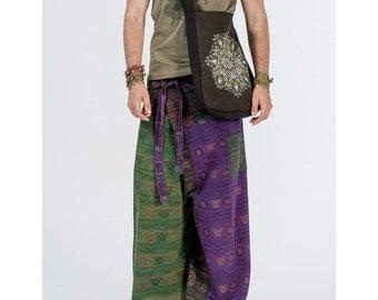 Men's ethnic cotton multicolored pants, Hippie pants, Boho pants, Bohemian pants, Festival pants, Pants with pockets, Comfortable pants