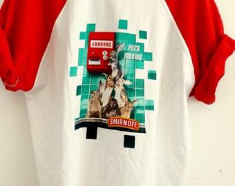 RARE Smirnoff mens t-shirt t shirt for men graphic tee vodka advertisement t-shirt mature graphics new old stock vintage 1990s size XL