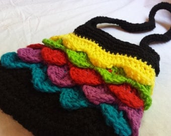 Colorful Crochet Handbag with Liner-FREE SHIPPING
