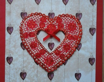 Heart Xmas Card