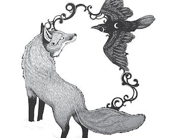 Harmony Fox & Raven print